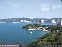 Hongkong sealand. Sight seeing from the bus On the way from airport Stock Photos