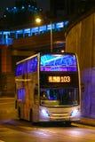 HONGKONG - September 2, 2017: Bussrutt 103 för dubbel däckare på c Royaltyfri Bild