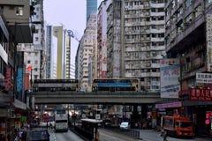 Hongkong shopping street in older district Stock Photo