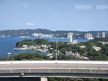 Hongkong sight seeing. On the way from Airport to Kowloon island Stock Photos