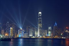 Hongkong skyline. Skyline of Hongkong at night Stock Photography