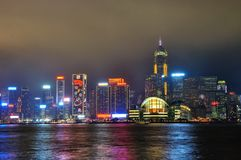 Hongkong skyline Stock Images