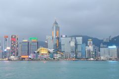 Hongkong skyline Royalty Free Stock Images
