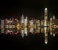 Hongkong skylines at night Stock Photo