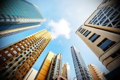 Hongkong skyskrapor Royaltyfri Foto