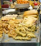 Hongkong street food. Popular Fried chinese food in Hongkong streets stock image