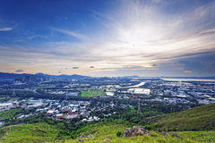 HongKong sunset , Yuen Long district Royalty Free Stock Images