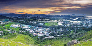 HongKong sunset , Yuen Long district Stock Images