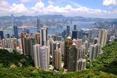 Hongkong Taiping peak view of city and harbor Stock Photography