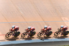 Hongkong Team at Asian Cycling Championships 2012 Stock Photos