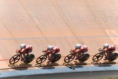 Hongkong Team at Asian Cycling Championships 2012 Stock Photos