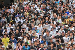Hongkong tegen overheid marcheert 2012 Royalty-vrije Stock Foto