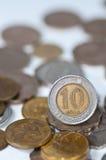 Hongkong tien dollarsmuntstuk Stock Foto's