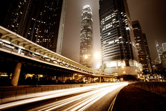 Hongkong. Traffic city night at hongkong,china royalty free stock images
