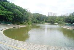 Hongkong Tuen Mun Park jezioro Zdjęcia Stock