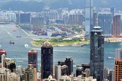Hongkong urban and harbor view Stock Image