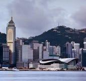 Hongkong vóór tyfoon. Royalty-vrije Stock Foto's