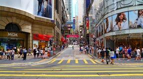 Hongkong van de binnenstad Stock Fotografie