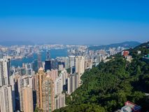 Hongkong van de Piek van Victoria stock foto's