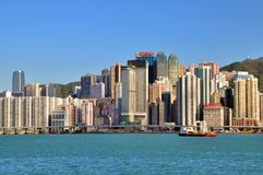 Hongkong Victoria harbor Royalty Free Stock Images