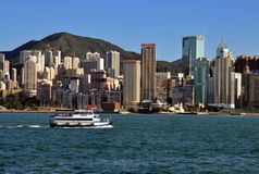 Hongkong Victoria harbor Stock Photos