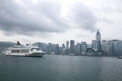 Hongkong victoria harbor Stock Photos