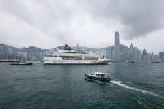 Hongkong victoria harbor Royalty Free Stock Photos