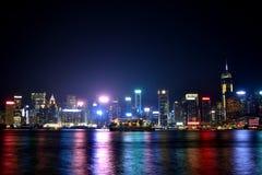 Hongkong Victoria harbor in night, 2016. Night view and lightinging of Hongkong victoria harbor Royalty Free Stock Photo