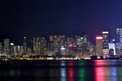 Hongkong Victoria harbor night, 2016. Night view and lightinging of Hongkong victoria harbor Royalty Free Stock Photography