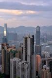 Hongkong Victoria harbor from Taiping peak, 2016. View of Hongkong urban and Victoria harbor from Taiping peak, 2016, Hongkong is a developing economy center in Stock Photos