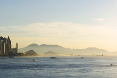 HongKong Victoria Harbour Sunset Stock Image