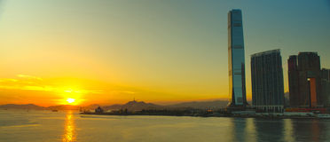 HongKong Victoria Harbour Sunset Royalty Free Stock Images