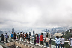 Hong Kong - view on murky day Royalty Free Stock Photo