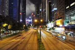 Hongkong Wanchai at night Stock Images