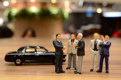 Hongqi car Service For figure business people Royalty Free Stock Photo