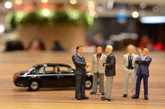 Hongqi car Service For figure business people Stock Photo