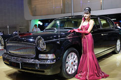 Hongqi limo HQE , chinese chairman parade car Stock Photo