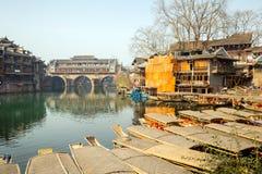Hongqiao Bridge at Fenghuang China Stock Photography