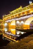 Hongqiao Bridge Fenghuang night China Royalty Free Stock Image
