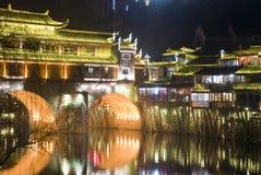 Hongqiao przy nocą Fotografia Royalty Free