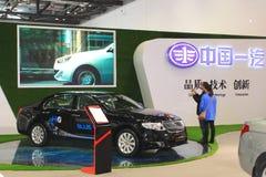 Hongqih7 phev zwarte auto Stock Foto's