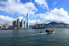 Hongs Kong Skyline lizenzfreie stockfotos