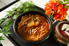 Hongseong beef soup, developed through academic exchanges and Sp Royalty Free Stock Photography