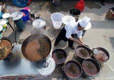 Hongzemeer, jiangsuprovincie, China: 1, 000 mensen deelt een slakfeest Royalty-vrije Stock Foto's