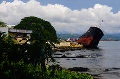 Honiaraschipbreuk - Solomon Islands stock fotografie