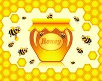 Honig stock abbildung