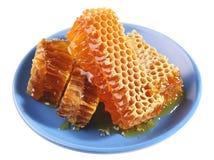 Honig auf Platte Lizenzfreie Stockbilder