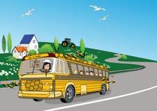Honig Bus stock abbildung