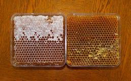 Honig in der Bienenwabe stockbild