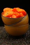 Honig gebackene Karotten lizenzfreie stockfotografie